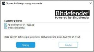 Pobranie bazy danych z Cellebrit aplikacji szpiegowskich.